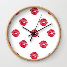Kiss Kiss Wall Clock