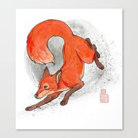 Fox Neighbor Canvas Print