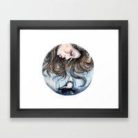 Jaws // Fashion Illustra… Framed Art Print