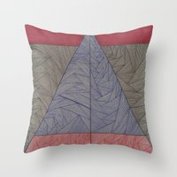 Red, Blue, Orange, Black Throw Pillow
