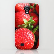 Abstract Strawberry Art Galaxy S4 Slim Case