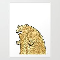 Humble Bear Art Print