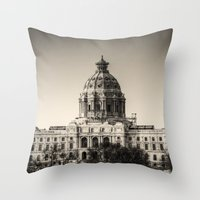 Minnesota Capitol Building Throw Pillow