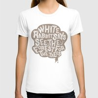 See the Forrest for the Trees Womens Fitted Tee White SMALL