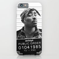 iPhone Cases featuring Tupac / 2pac  Public Order  by Maioriz Home