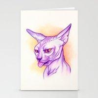 Sphynx cat #02 Stationery Cards