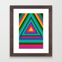 Triangle Of Life Framed Art Print
