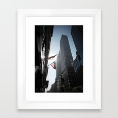 The Flags. Empire State Building, New York. Framed Art Print
