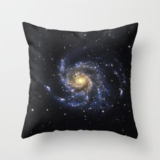 Spiral Galaxy M101 Throw Pillow