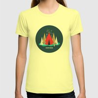 We Are The 100%  Womens Fitted Tee Lemon SMALL