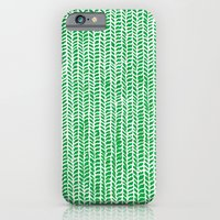 Stockinette Green iPhone 6 Slim Case