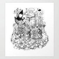 Thursday (line Art) Art Print