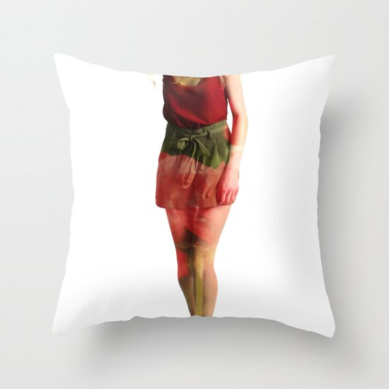 Ruby Love Throw Pillow