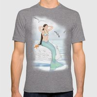 Seaside Mermaid Mens Fitted Tee Tri-Grey SMALL