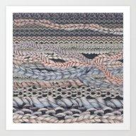 Romantic Stitches Art Print
