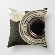 Vintage Argus camera Throw Pillow