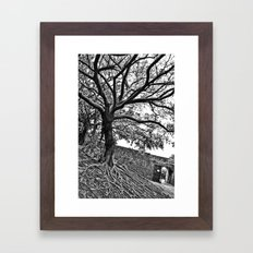 Banyan Tree Monster Framed Art Print