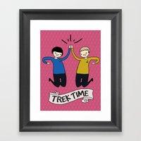 Trek Time Framed Art Print