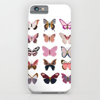 Pink Butterfly Collage iPhone 6 Slim Case