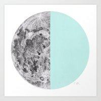 Half Moon Art Print