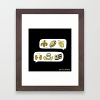 #BlackAndGold Framed Art Print