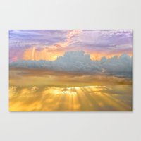 Don't Be Afraid of the Clouds...They're Filtering Out the Gold Canvas Print