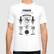 Star Fox Vintage Poster Geek Line Artly SMALL White Mens Fitted Tee