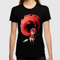 Red Cape Womens Fitted Tee Black SMALL