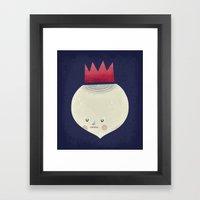 king onion.  Framed Art Print