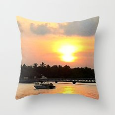Maldives - Afterglow Throw Pillow