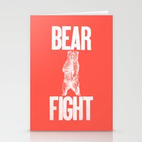 Bear Fight Stationery Cards