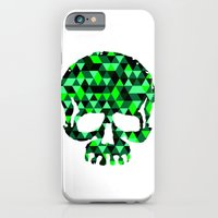iPhone & iPod Case featuring Triangle Camouflage Skull (WITHE) by Mendelsign