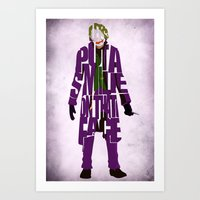 joker Art Prints featuring Joker by Ayse Deniz