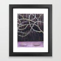 Sleeping Beauty with Thorns Framed Art Print