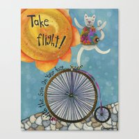 Take Flight With The Sun On Your Face Canvas Print