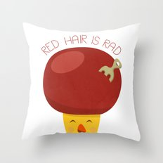 Red Hair is Rad Throw Pillow