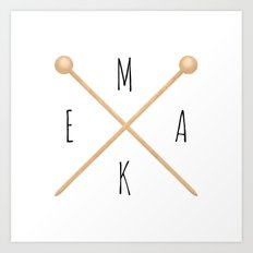 MAKE  |  Knitting Needles Art Print