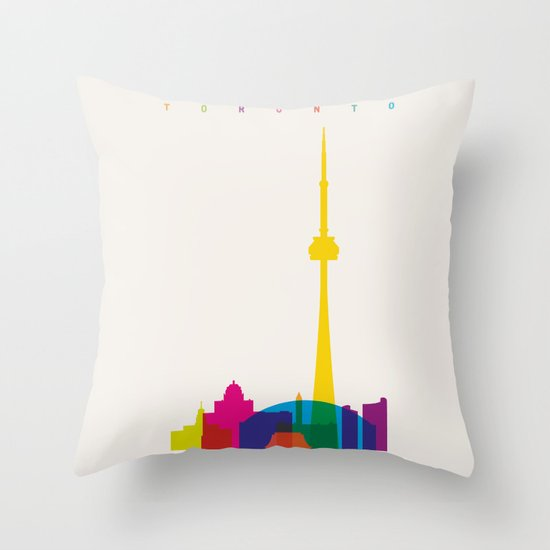 Shapes of Toronto. Accurate to scale Throw Pillow