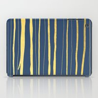 Vertical Living Navy and Gold iPad Case