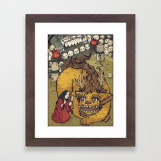 Beauty And Beast Framed Art Print