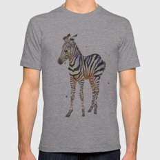 zebra, baby zebra, african wildlife, black and white, stripes, safari art Mens Fitted Tee Athletic Grey SMALL