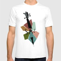 Bach - Cello Suites Mens Fitted Tee White SMALL