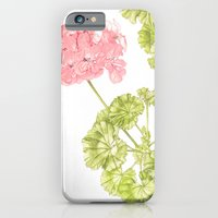iPhone & iPod Case featuring Pale Pink Geranium by Kokabella