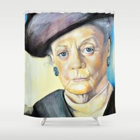 Portrait Of Maggie Smith… Shower Curtain
