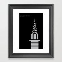 New York Skyline: Chrysl… Framed Art Print