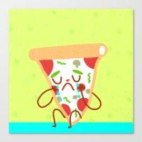 Sad Pizza Canvas Print