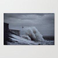 Waves at Porthcawl Canvas Print