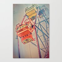 1930's Ferris Wheel Canvas Print
