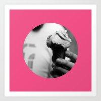Pink Gelato Art Print
