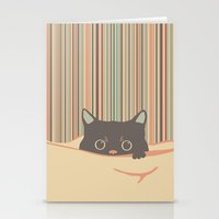 Kitty in the blanket Stationery Cards